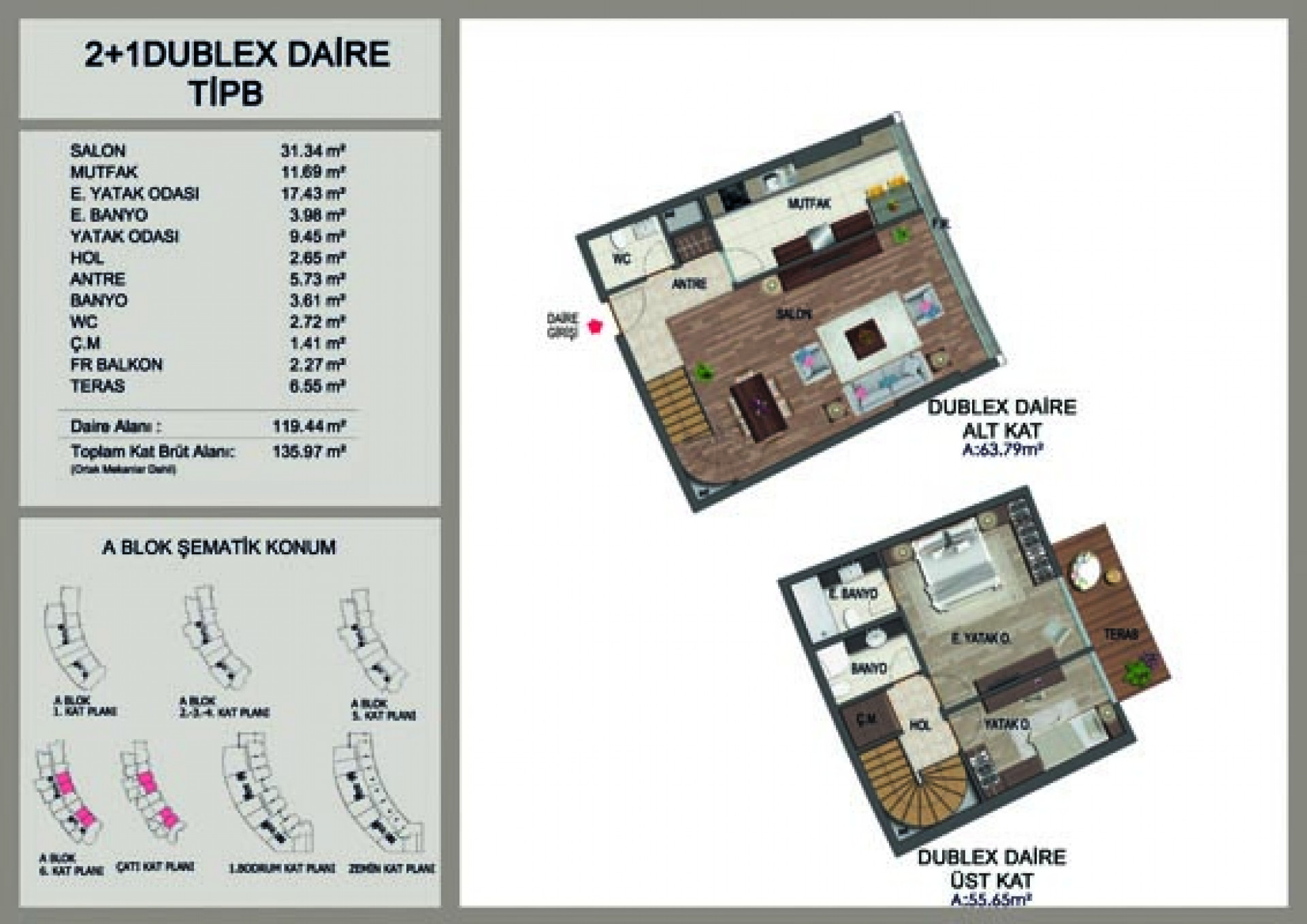 Apartment duplex 2+1
