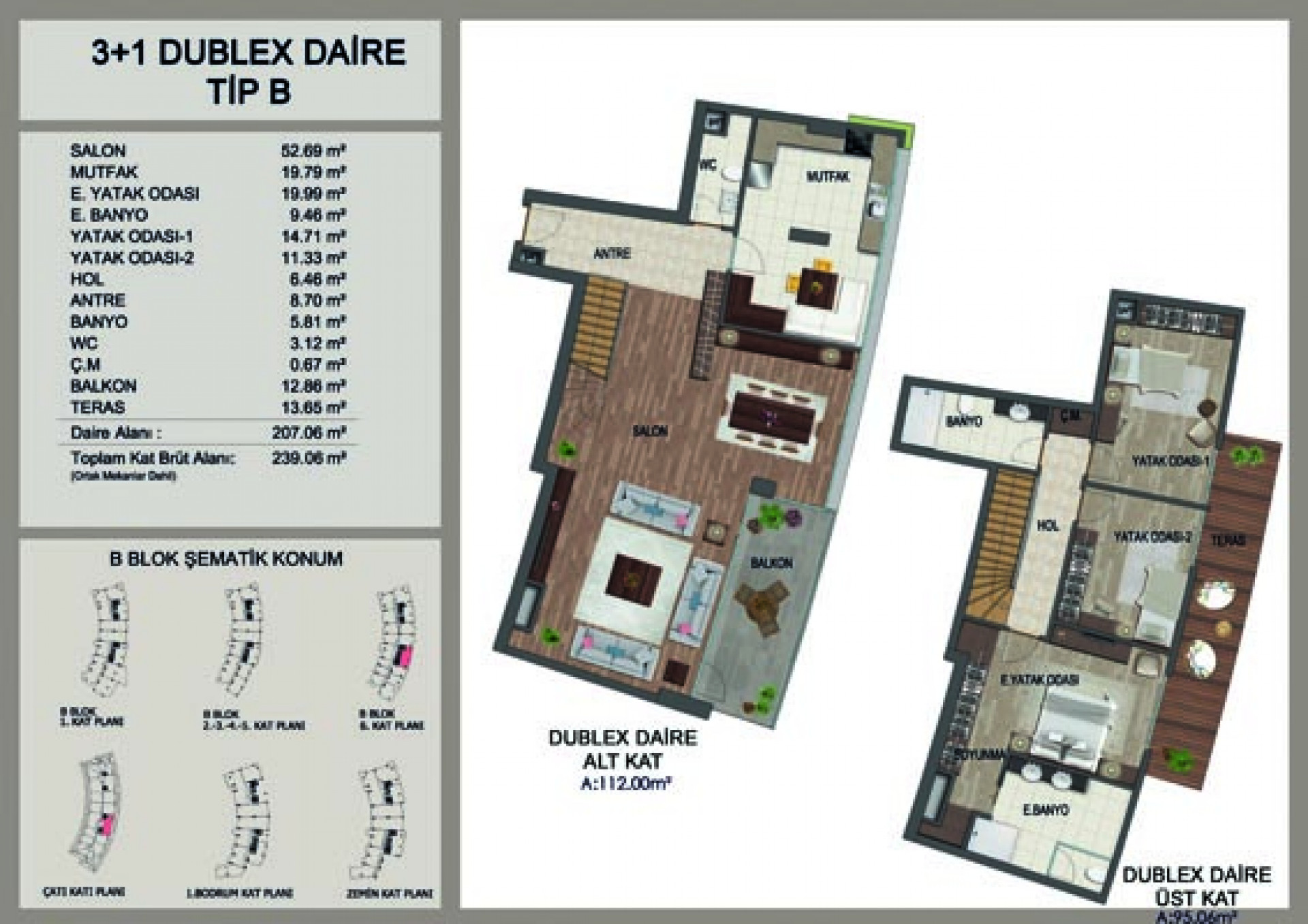 Apartment duplex  3+1