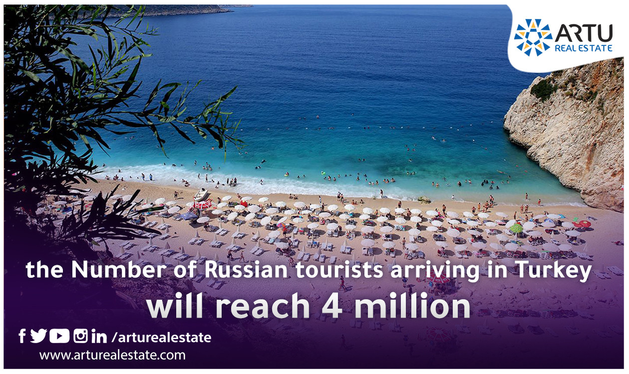 the Number of Russian tourists arriving in Turkey  will reach 4 million