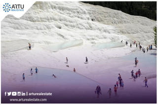 """In 4 months ... the Turkish """"Pamukkale"""" receives more than 100 thousand tourists"""
